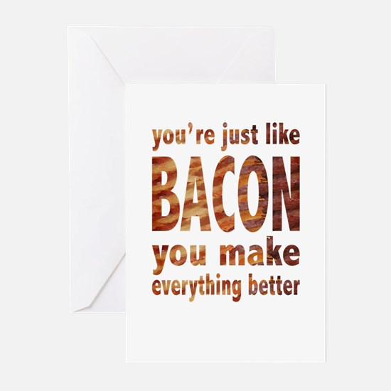 Just like Bacon Greeting Cards (Pk of 10)