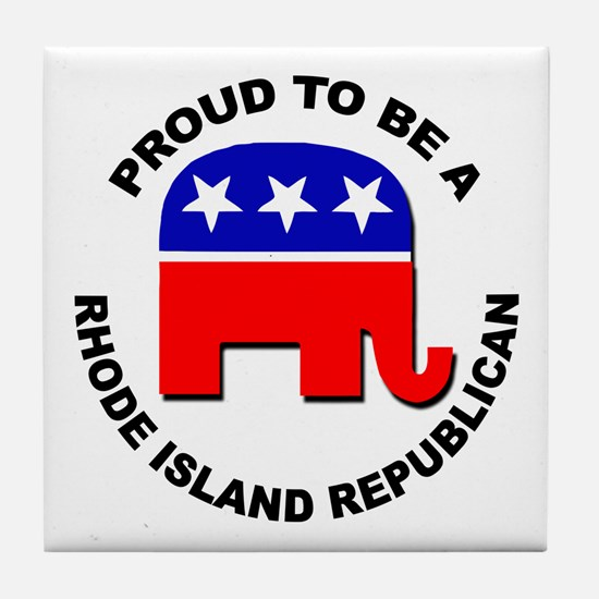 Proud Rhode Island Republican Tile Coaster