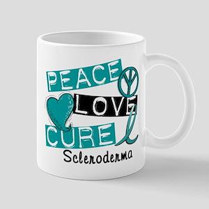 Scleroderma Peace Love Cure 1 Large Mugs