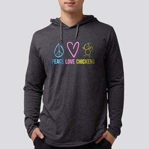 peace, love, chickens Long Sleeve T-Shirt