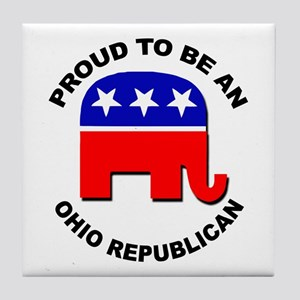 Proud Ohio Republican Tile Coaster