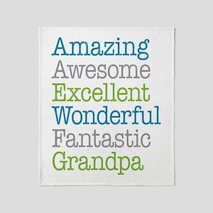 Grandpa - Amazing Fantastic Throw Blanket