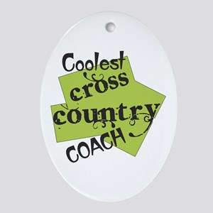 Coolest Cross Country Coach Oval Ornament