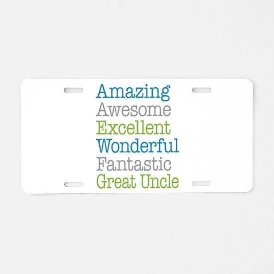 Great Uncle - Amazing Fanta Aluminum License Plate