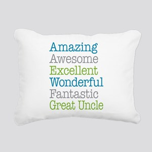 Great Uncle - Amazing Fa Rectangular Canvas Pillow