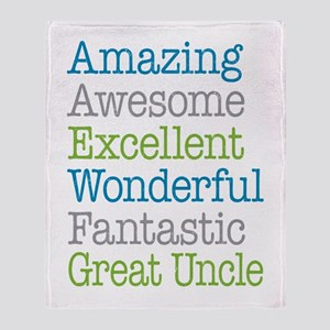 Great Uncle - Amazing Fantastic Throw Blanket