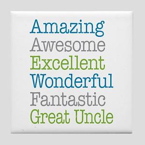 Great Uncle - Amazing Fantastic Tile Coaster