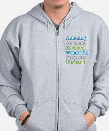 Husband - Amazing Fantastic Zip Hoodie