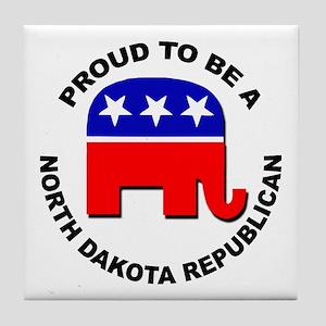 Proud North Dakota Republican Tile Coaster