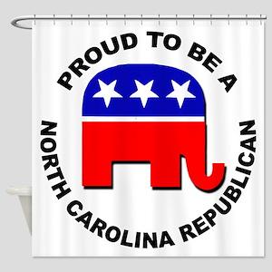 Proud North Carolina Republican Shower Curtain