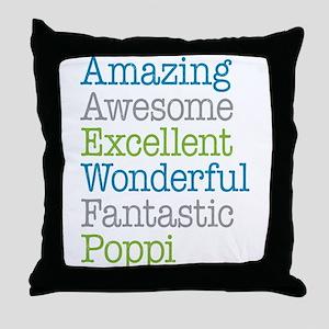 Poppi - Amazing Fantastic Throw Pillow
