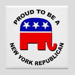 Proud New York Republican Tile Coaster