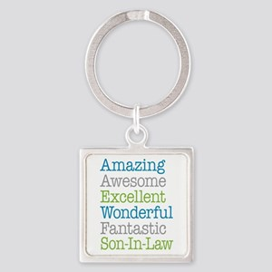 Son-In-Law Amazing Fantastic Square Keychain