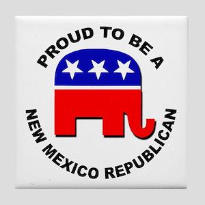 Proud New Mexico Republican Tile Coaster