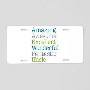 Uncle - Amazing Fantastic Aluminum License Plate