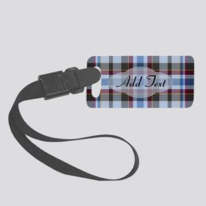 Foggy Night Plaid Small Luggage Tag