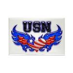USN Heart Flag Rectangle Magnet (10 pack)
