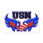 USN Heart Flag  Mini Poster Print