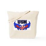 USN Heart Flag  Tote Bag