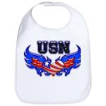 USN Heart Flag Bib