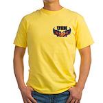 USN Heart Flag Yellow T-Shirt