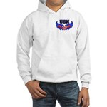 USN Heart Flag Hooded Sweatshirt