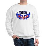 USN Heart Flag Sweatshirt