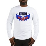 USN Heart Flag Long Sleeve T-Shirt