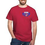 USN Heart Flag Dark T-Shirt