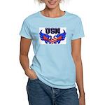 USN Heart Flag Women's Light T-Shirt