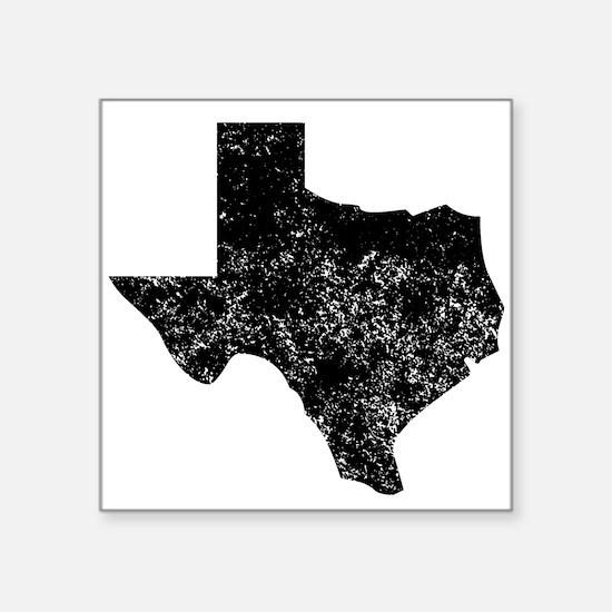 Distressed Texas Silhouette Sticker