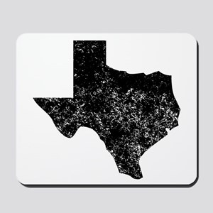 Distressed Texas Silhouette Mousepad