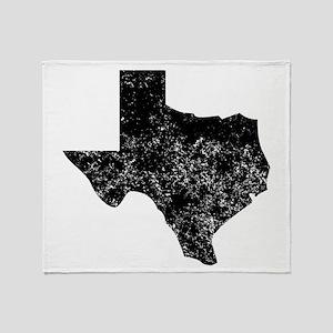 Distressed Texas Silhouette Throw Blanket