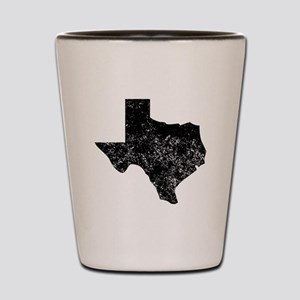 Distressed Texas Silhouette Shot Glass