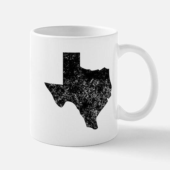 Distressed Texas Silhouette Mugs