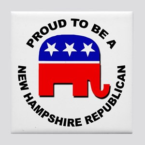 Proud New Hampshire Republican Tile Coaster