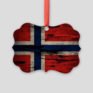 Flag of Norway Vintage Mulitiply Ornament
