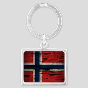 Flag of Norway Vintage Mulitiply Keychains