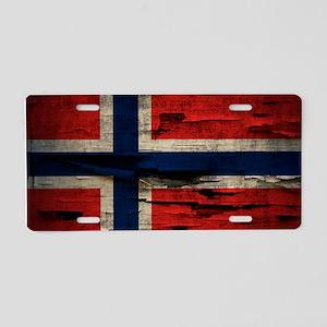 Flag of Norway Vintage Mulitiply Aluminum License