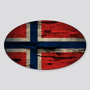 Flag of Norway Vintage Mulitiply Sticker