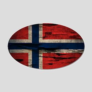Flag of Norway Vintage Mulitiply Wall Decal