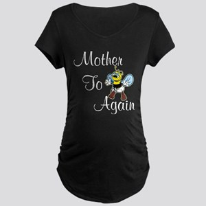 Mother To Be Again Maternity Dark T-Shirt