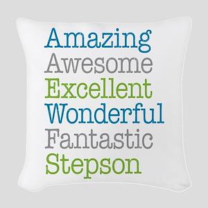Stepson - Amazing Fantastic Woven Throw Pillow