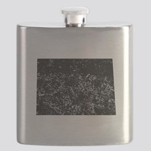 Distressed North Dakota Silhouette Flask