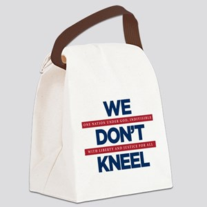 We Don't Kneel Canvas Lunch Bag