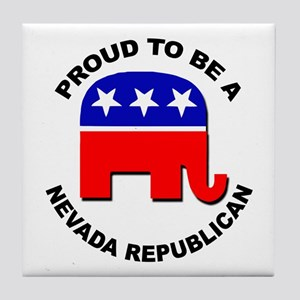 Proud Nevada Republican Tile Coaster