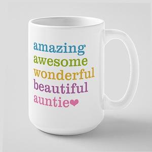 Auntie - Amazing Awesome Large Mug