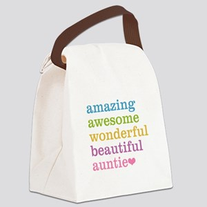 Auntie - Amazing Awesome Canvas Lunch Bag