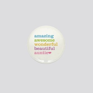Auntie - Amazing Awesome Mini Button