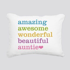 Auntie - Amazing Awesome Rectangular Canvas Pillow